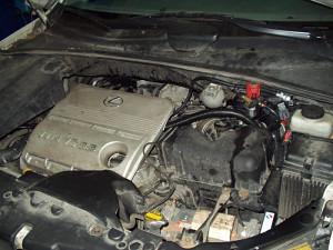 Lexus RX330 - widok na silnik z LPG