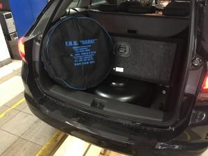 Opel Astra butla z gazem w kole zapasowym