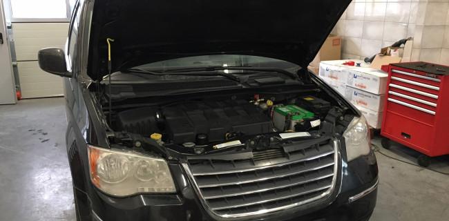 Chrysler Town & Country instalacja gazowa