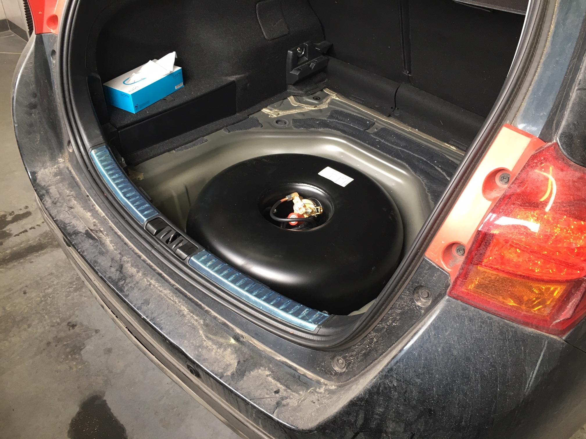 Toyota Auris butla z gazem