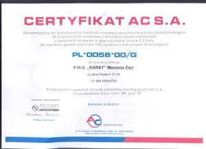 certyfikat instalacji gazowych