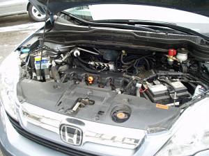 Honda CRV - widok na silnk po instalacji LPG