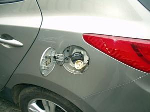 wlew paliwa w hyundai ix35 po instalacji gazowej