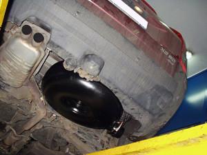 Pojemnik z gazem zamontowany pod podwoziem