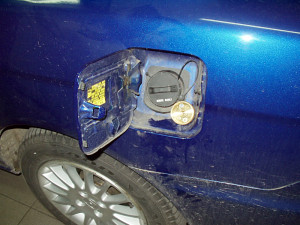 Wlew paliwa w Honda Civic Coupe