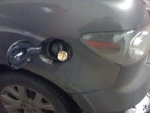 Wlew paliwa w mazda cx7