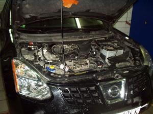 Silnik z instalacją gazową w Nissan Rogue