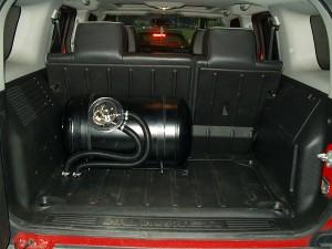 Zbiornik z gazem w Hummer H3