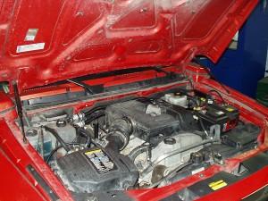 Silnik po przeprowadzeniu instalacji gazowej w Hummer H3