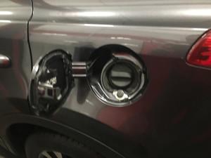 Toyota Rav4 wlew gazu