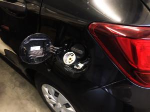 Toyota Yaris wlew paliwa