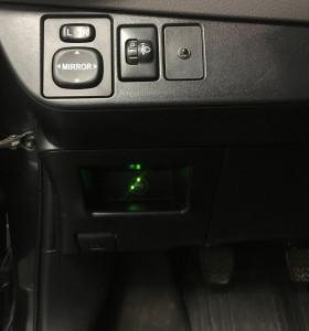 Toyota Yaris przełącznik gazu
