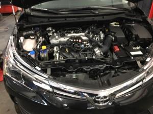 Toyota Corolla wtryski na silniku bez klapy