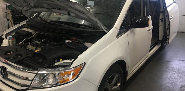 Honda Odyssey silnik z instalacją gazową